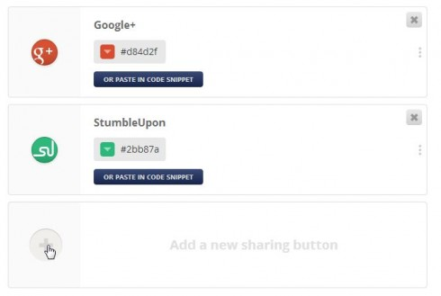 Add options for flare Social Share Buttons