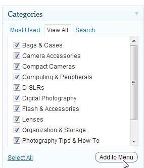 WordPress Category Menu