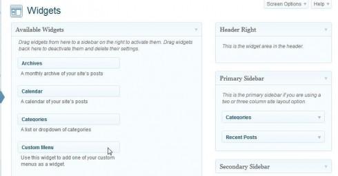 WordPress Custom Menu Widget