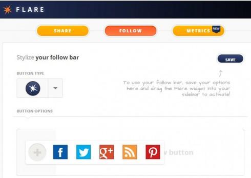 Flare follow me bar