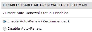 Domain Auto-Renewal