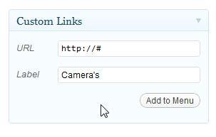 No Links Menu Item