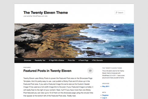The WordPress Twenty Eleven Theme