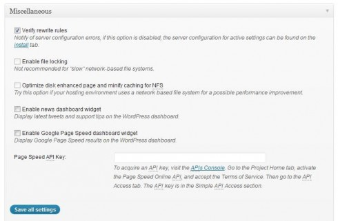 w3 total cache first settings to speed up WordPress