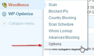 WordPress Security Options from Wordfence
