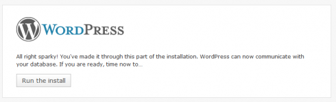 WordPress Installation Step 4 -Run the installation