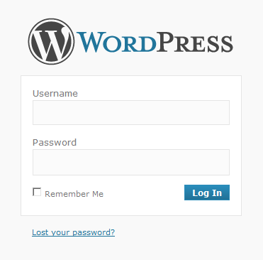 WordPress Login after Installation
