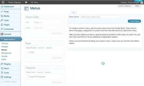 Create WordPress menus to improve navigation