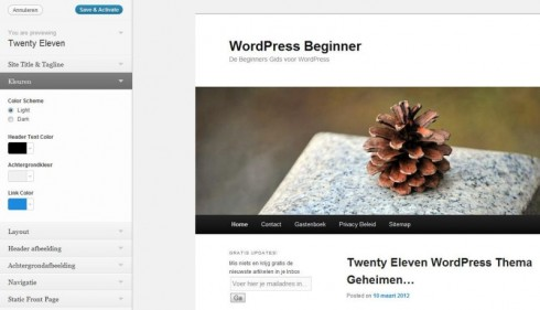 WordPress Twenty Eleven Preview